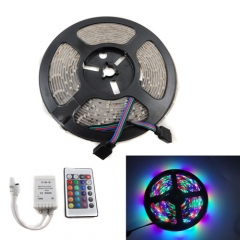 RGB Waterproof LED Strip Light Kit 5M 3528 SMD + 24 Key IR Remote Controller
