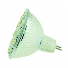 RANPO MR16 24 SMD 5050 Spotlight Downlight Bulb Lighting,20W Equivalent,Cool White 4600K, 110V