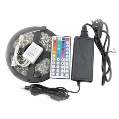 5050 LED Strip,RGB Light,Waterproof,5M,DC 12V,LED Tape Light.Color Changing, 12V 5A Power Adapter ,44 Key Controller