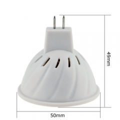 RANPO MR16 LED Spotlight 2.5W Bulb 3528 SMD DC 12V/AC 110V/220V Warm/Neutral/Cool White 48 LEDs