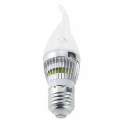 RANPO E27 LED Flame Candle Light Candelabra Sliver Shell  3W High Power Chandelier 30W Incandescent Bulb Candle Bulb