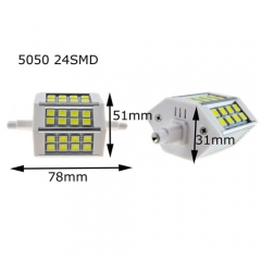 RANPO 5050 R7S J78(78mm) 24SMD 5W LED Flood Lamp Warm Cool White 85-265V