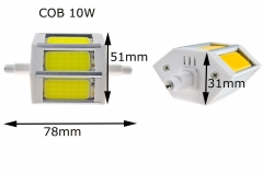 Ranpo Dimmable 5W COB J78 78mm LED Corn Bulb Flood Lamp 110V&220V