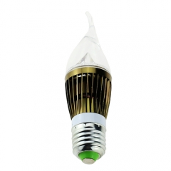 RANPO E27 4W LED Flame Candle Light Candelabra Borzen Shell High Power Chandelier 40W Incandescent Bulb Candle Bulb AC 85-265V