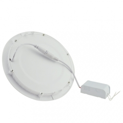 Ranpo Dimmable  LED Panel Light Round 15W Warm Cool White Downlight with LED Driver AC 110V 220V