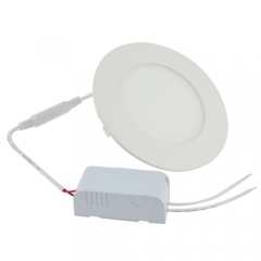 Ranpo LED Panel Light Round 6W Warm Cool White Downlight with LED Driver AC 85-265V