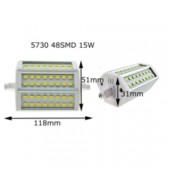 Ranpo 5730 R7S 118mm 15W LED 48 SMD Flood Light Lamp  Warm Cool White 85-265V