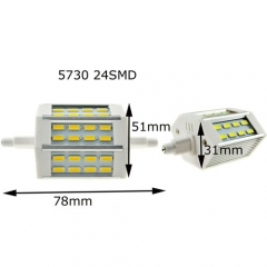 RANPO 5730 R7S J78(78mm) 24SMD 5W LED Flood Lamp Warm Cool White 85-265V