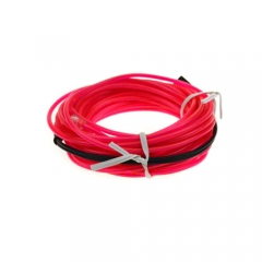 3M Colorful Flexible EL Wire Tube Rope tape Neon Light Glow Car Party + White Car Cigarette Controller