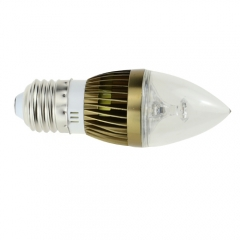 Dimmable E27 AC 220V 3W Candelabra Bronze Shell High Power LED Flame Bulb Chandelier 30W Incandescent Bulb Candle Bulb Cool Neutral Warm White