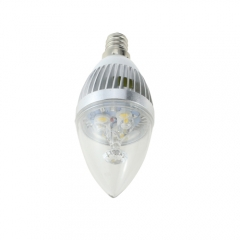 Dimmable E12 AC 110V 4W Candelabra Silver Shell High Power LED Flame Bulb Chandelier Candle Bulb Cool Neutral Warm White