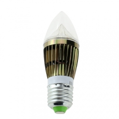 Dimmable E27 AC 110V/220V 5W Candelabra Bronze Shell High Power LED Flame Bulb Chandelier Candle Bulb Cool Neutral Warm White
