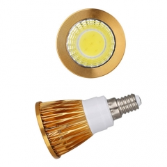 RANPO Dimmable Golden E14 12W LED COB Downlight Bulb Warm Cool Neutral White ,AC 85-265V,600LM
