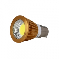 RANPO Dimmable Golden B22 9W LED COB Downlight Bulb Warm Cool Neutral White ,AC 220V,450LM