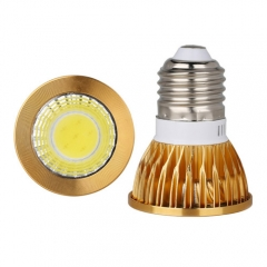 RANPO Dimmable Golden E27 9W LED COB Downlight Bulb Warm Cool Neutral White ,AC 110V 220V , 450LM