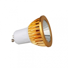 RANPO Dimmable Golden GU10 9W LED COB Downlight Bulb Warm Cool Neutral White ,AC110V 220V,450LM