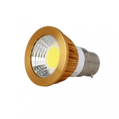 RANPO Dimmable Golden B22 6W LED COB Downlight Bulb Warm Cool Neutral White ,AC 220V,300LM