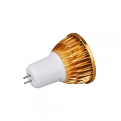 RANPO Dimmable Golden GU5.3 9W LED COB Downlight Bulb Warm Cool Neutral White ,AC 220V,450LM