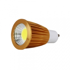 RANPO Dimmable Golden GU10 12W LED COB Downlight Bulb Warm Cool Neutral White ,AC 110V / AC 220V,600LM