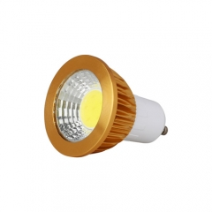 RANPO Dimmable Golden GU10 6W LED COB Downlight Bulb Warm Cool Neutral White ,AC 110V 220V,300LM