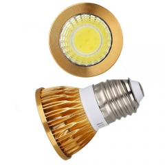 RANPO Dimmable Golden E27 6W LED COB Downlight Bulb Warm Cool Neutral White ,AC 110V 220V , 300LM