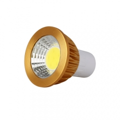 RANPO Dimmable Golden GU5.3 6W LED COB Downlight Bulb Warm Cool Neutral White ,AC 85-265V,300LM