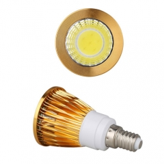RANPO Dimmable Golden E14 9W LED COB Downlight Bulb Warm Cool Neutral White ,AC 220V,450LM