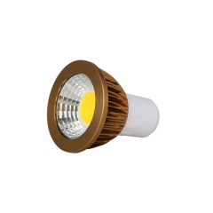 RANPO Dimmable Bronze GU5.3 6W LED COB Downlight Bulb Warm Cool Neutral White ,AC 220V , 300LM