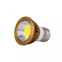 RANPO Dimmable Bronze E27 6W LED COB Downlight Bulb Warm Cool Neutral White ,AC 110V,AC 220V, 300LM