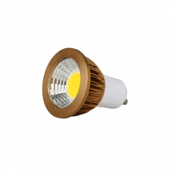 RANPO Dimmable Bronze GU10 6W LED COB Downlight Bulb Warm Cool Neutral White ,AC 220V , 300LM
