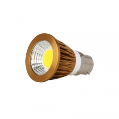 RANPO Dimmable Bronze B22 9W LED COB Downlight Bulb Warm Cool Neutral White ,AC 220V, 450LM