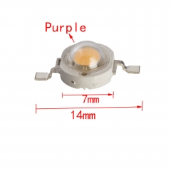 10 pcs/lots 1W Purple High Power LED Chip Bead Lamp