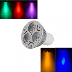 Ranpo GU5.3 3W LED Bulb Spotlight RED Yellow Blue Green Purple Lighting AC 85-265V