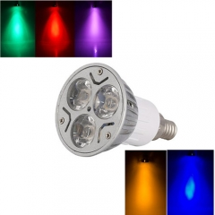 Ranpo E12 3W LED Bulb Spotlight RED Yellow Blue Green Purple Lighting AC 85-265V