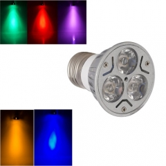 Ranpo Colorful E27 3W LED Bulb Spotlight RED Yellow Blue Green Purple Lighting AC 85-265V
