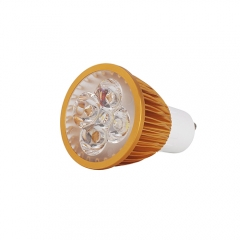Ranpo Golden Color Dimmable GU10 12W LED Spotlight Warm Cold Natural White 110V  220V