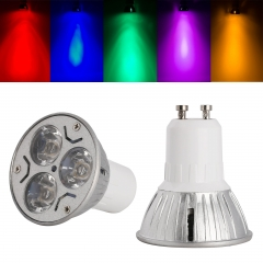 Ranpo GU10 3W LED Bulb Spotlight RED Yellow Blue Green Purple Lighting AC 85-265V