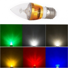 RANPO Dimmable E27 6W LED Candle Light Golden Shell Cool white/warm white/neutral white/ Red/Yellow/Blue/Green Color Chande Bulb AC  110V 220V