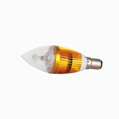 RANPO B15 6W LED Candle Light Golden Shell  Purple Color  High Power Chande Bulb AC 85-265V