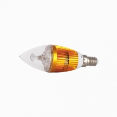 RANPO Dimmable E14 6W LED Candle Light Golden Shell  Purple Color  High Power Chande Bulb AC 220V