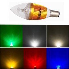 RANPO Dimmable B15 6W LED Candle Light Golden Shell Cool White/Warm White/Red/Blue/Green/Yellow/ Purple Color  High Power Chande Bulb AC 220V
