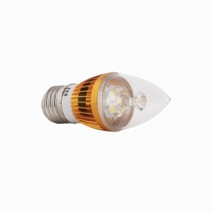 RANPO E27 6W LED Candle Light Golden Shell Purple Color  High Power Chande Bulb AC 85-265V