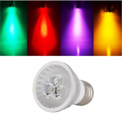 Ranpo Sliver Housing Dimmable  E27 9W Red Green Blue Yellow Purple Color AC 110V 220V