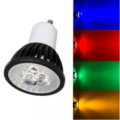 Ranpo Dimmable GU10 9W LED Spotlight Red Yellow Blue Green Lighting AC 110V