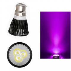 Ranpo Dimmable B22 9W LED Spotlight Purple Lighting AC 220V