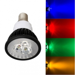 Ranpo Dimmable E14 9W LED Spotlight Red Yellow Blue Green Lighting AC 220V