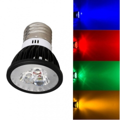 Ranpo Dimmable E27 9W LED Spotlight Red Yellow Blue Green Lighting AC  110V 220V