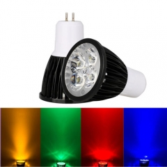 Ranpo Dimmable GU5.3 12W LED Spotlight Red Yellow Blue Green Lighting AC 220V