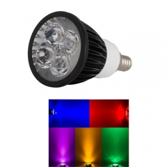 Ranpo E12 12W LED Spotlight Red Yellow Blue Green Purple Lighting AC 110V