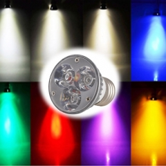 Ranpo Dimmable E27 6W LED Spotlight Cool/Neutral/Warm White Red Blue Yellow Purple AC 110V 220V